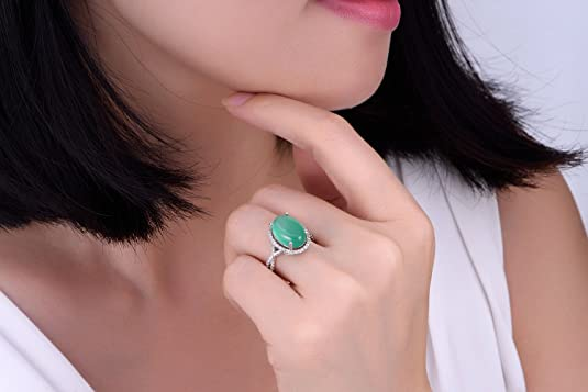 Yoursfs Pink Opal Ring For Women Halo Filigree Cocktail 18K Rose GP Fashion Jewelry: Amazon.co.uk: Jewellery