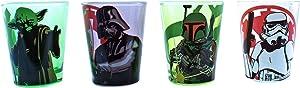 Silver Buffalo Star Wars Character Fight Mini Glass Set, 4-Pack