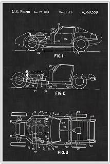 Amazon chevrolet corvette blueprint collection print car art corvette cars blueprint patent patent poster blueprint poster man cave art malvernweather Gallery