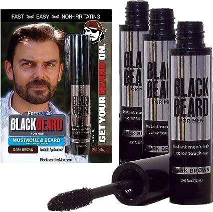 Blackbeard for Men - temporary brush on colour 12ml Dark ...