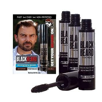 Amazon.com : Blackbeard for Men - Instant Brush-On Beard & Mustache ...