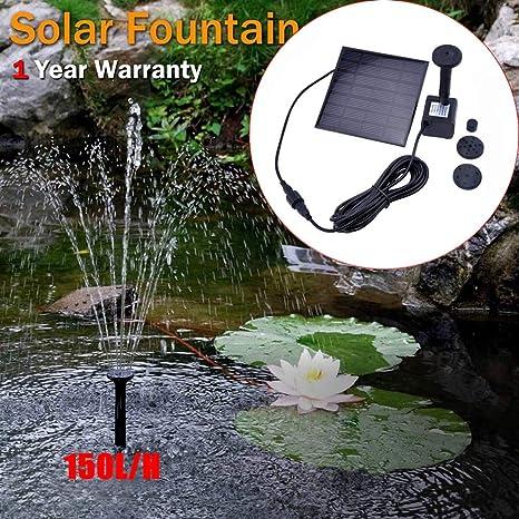 ZLJWRQY Fuente Solar Fuente Solar Fuente de Agua jardín Piscina Estanque Exterior Panel Solar Fuente Flotante Fuente jardín decoración: Amazon.es: Deportes y aire libre