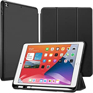 ESR Case for iPad 8th/7th Gen with Pencil Holder [Trifold Viewing Stand] [Auto Sleep/Wake Cover] Rebound Series – Black