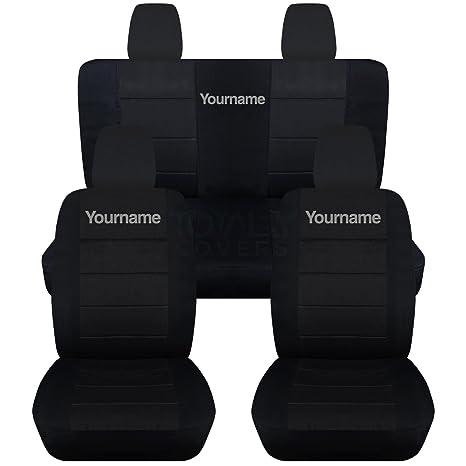 Amazon.com: Set completo de fundas para asientos delanteros ...