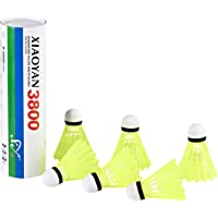 Paquet de 6 volants en nylon avancés, balles de badminton à vitesse moyenne, stabilité et durabilité exceptionnelles, sports de plein air en intérieur, balles de badminton à grande vitesse