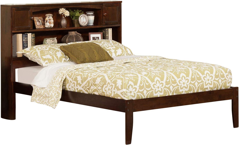 Atlantic Furniture AR8531004 Newport Platform Bed with Open Foot Board, Full, Walnut