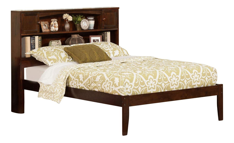 Atlantic Furniture AR8531004 Newport Platform Bed with Open Foot Board, Full, Antique Walnut