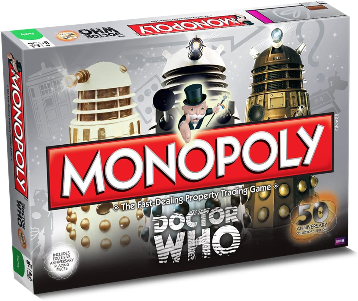 Monopoly Doctor Who 50th Anniversary - Juego de Mesa (en inglés): Amazon.es: Juguetes y juegos