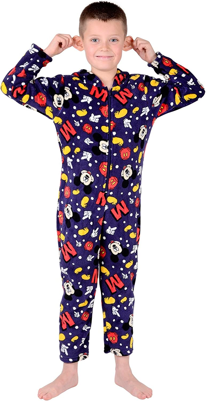 Disney Micky Mouse Boys Pyjama Onesie Coral Fleece