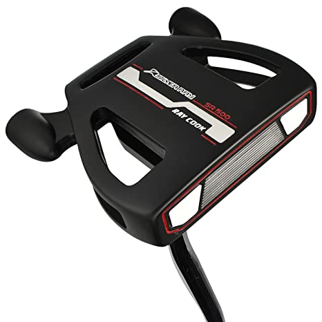 Ray Cook Hombre SR500 Plata Ray Putter, Negro, 86,36 cm