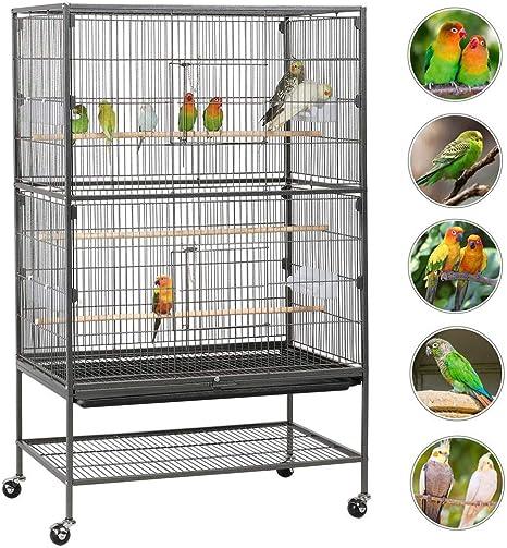 Yaheetech Jaula Grande Jaula para Pájaros Jaula para Mascota con ...