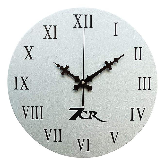 7CR Wooden Wall Clock  Silver  Wall Clocks