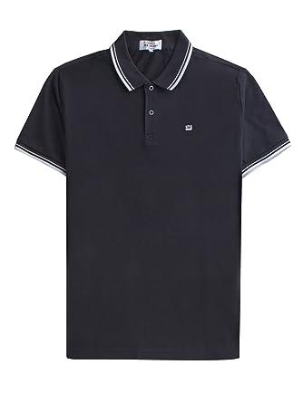 4851a06ee16228 Amazon.com: Ben Sherman Twim Tipping Collar Pique Polo Shirt - 47811 ...