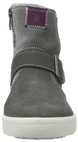 Ricosta 7400200 - Zapatillas Altas de Cuero Niñas, Color Gris, Talla 39 EU