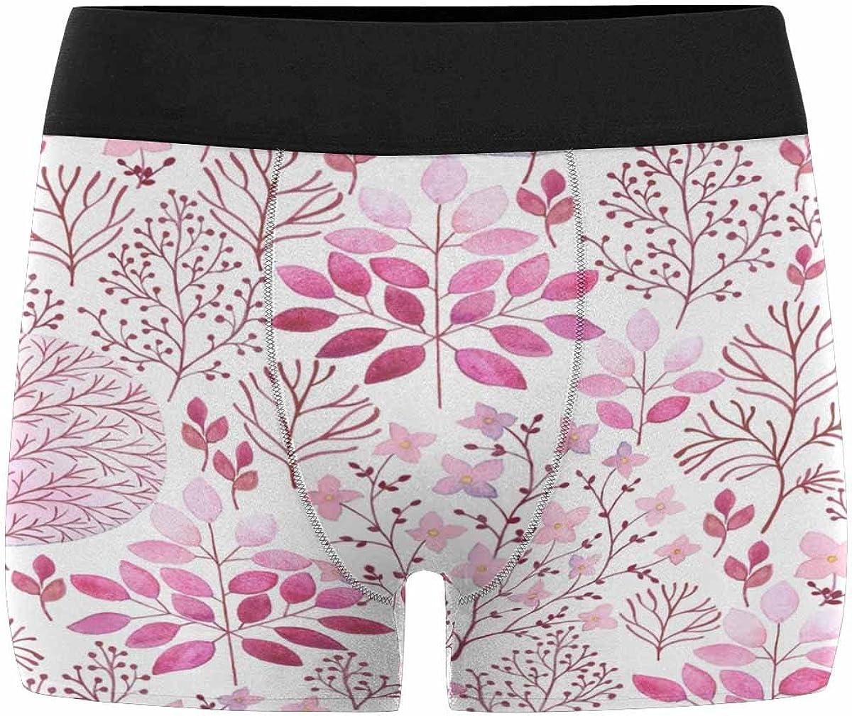 XS-3XL INTERESTPRINT Mens Boxer Briefs Underwear Abstraction Floral in Vintage