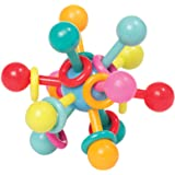 "Manhattan Toy Atom Rattle & Teether Grasping Activity Baby Toy, 4.5"" x 4.5"" x 3.5"""
