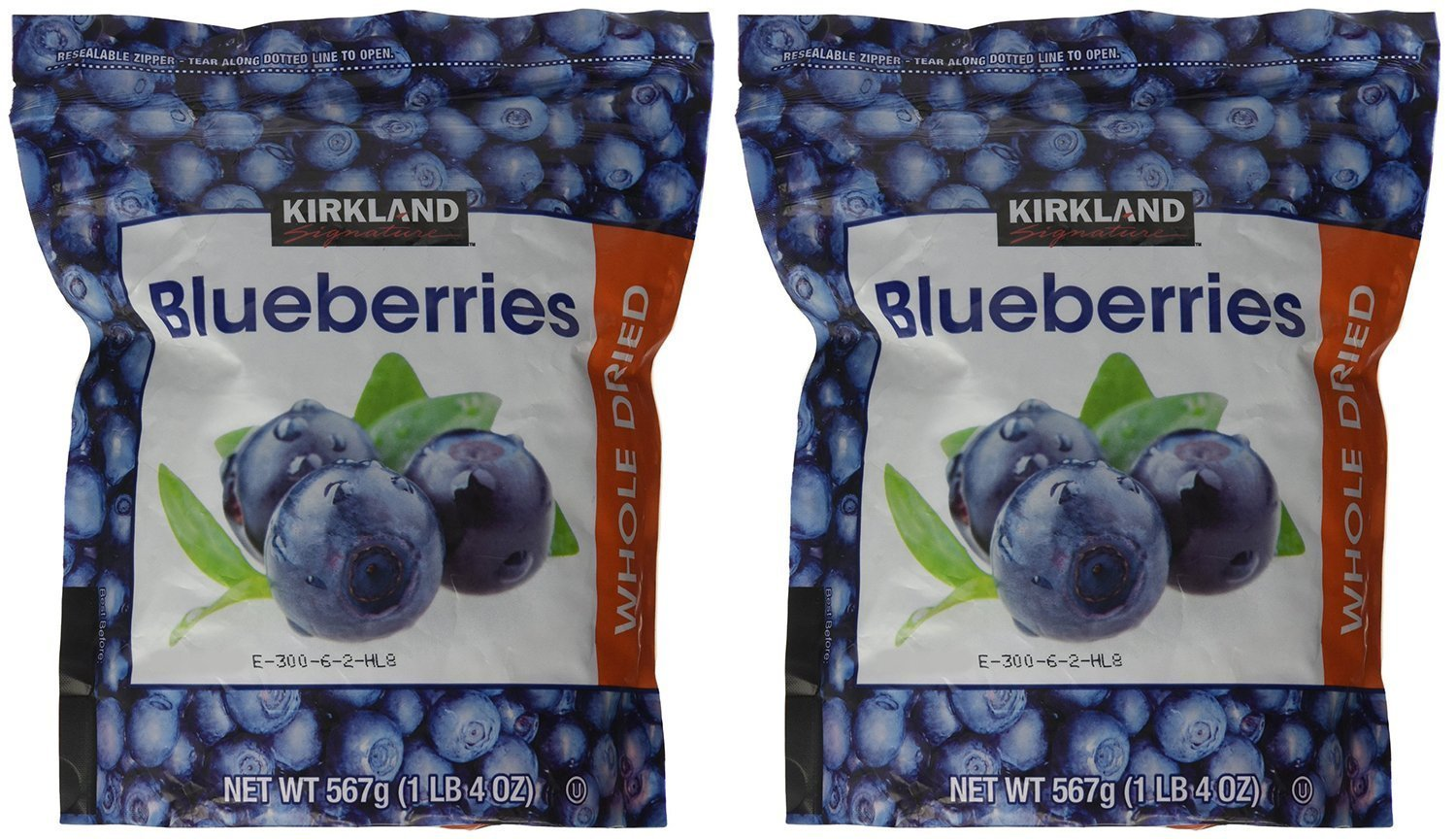 Kirkland Signature - Dried Blueberries, 20 Ounce - Pack of 2