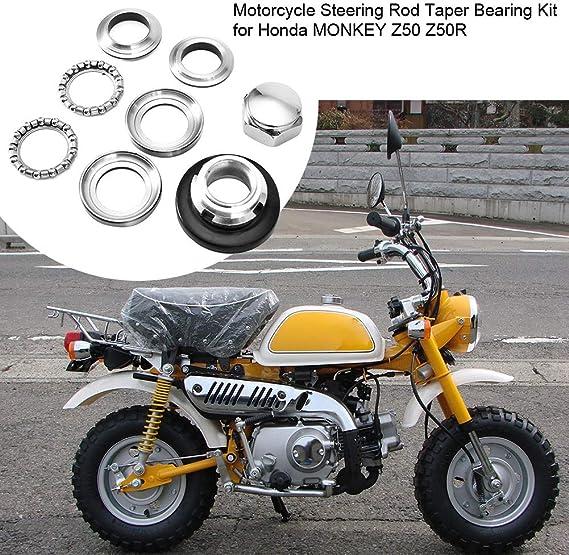 Motorcycle Accessories Steering Rod Taper Bearings Kit for Honda MONKEY Z50 Z50R Aramox Steering Bearing Kit