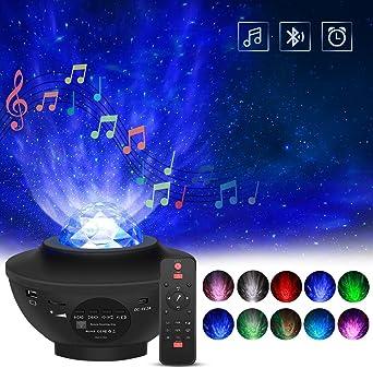 Proyector Giratorio de Luz Estelar, FOCHEA 21 Modos Proyector LED ...