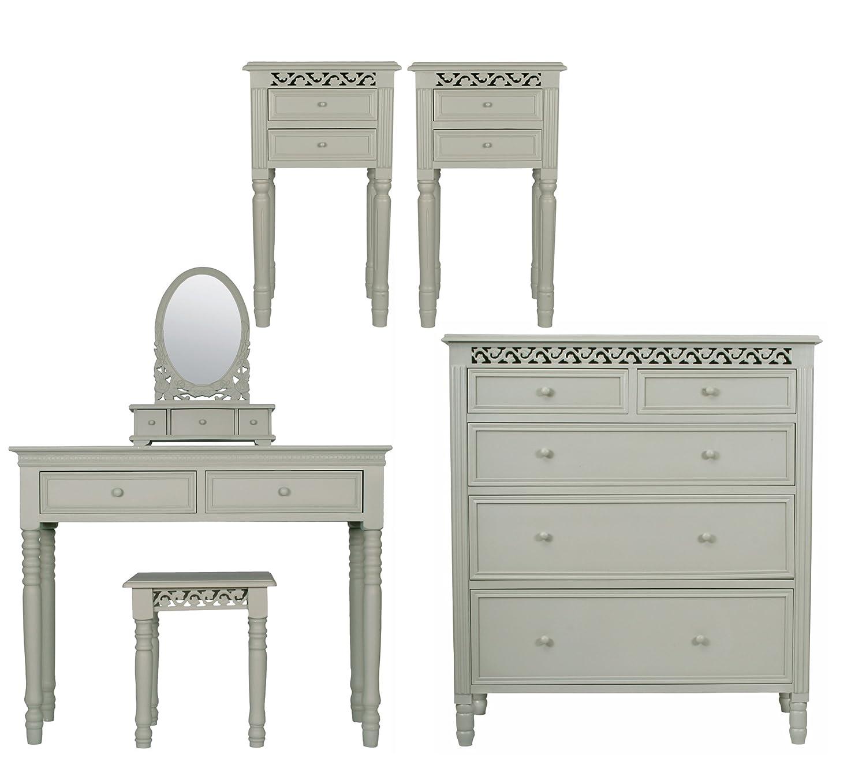 belgravia bedroom furniture. six piece belgravia style bedroom furniture set in french grey amazoncouk kitchen u0026 home h