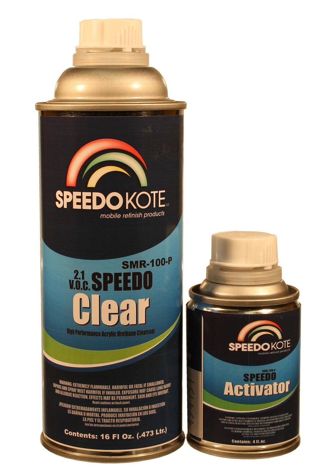 Extremely Fast Clear Coat, 2.1 voc Spot Clearcoat slow Pint Kit, SMR-100-P/170-4