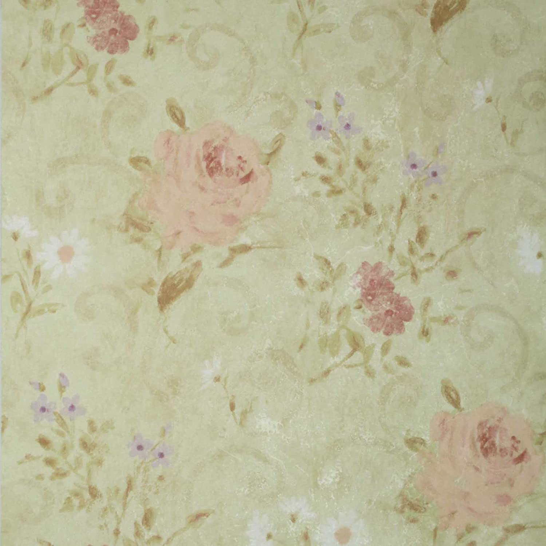 Mirage 985 54571 Gardner Olive Flower Scroll Wallpaper Amazon Com
