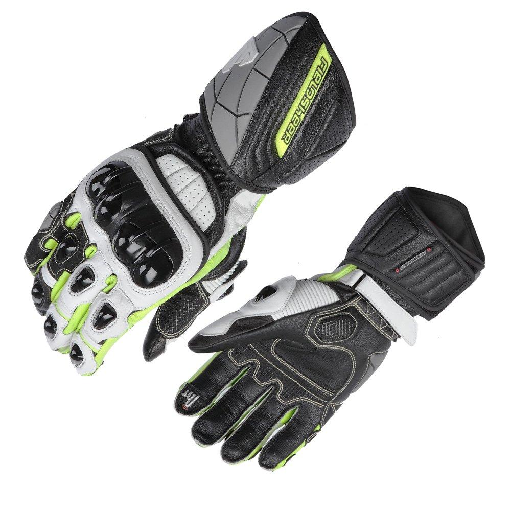 Fieldsheer unisex-adult Race-Pro Glove (Black/White/Hi-Viz, Medium)
