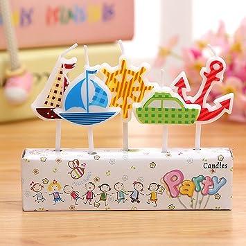 Amazon.com: ETbotu - Juego de velas creativas de dibujos ...