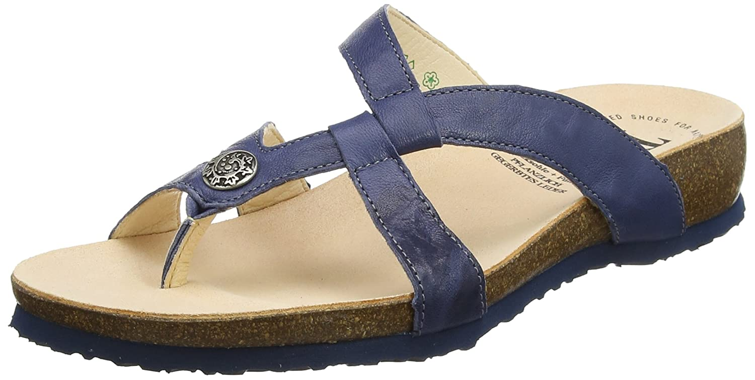 Think! Julia_282333 Damen Julia_282333 Think! Zehentrenner, Blau (Jeans/Kombi 84) e34768