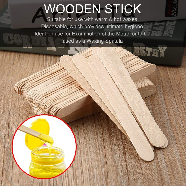 Wood set Holzspatel Waxing Wax Spatel Einweg-Bambus-Sticks Medical-Stick Sch/önheit Gesundheit Tool 100pcs