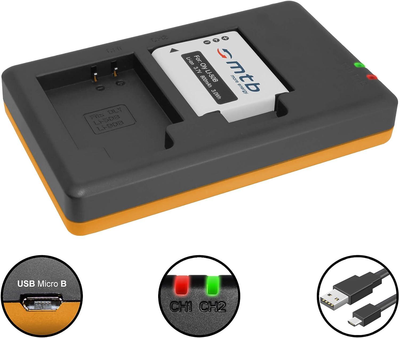 Auto//Secteur 2 Batteries // Pentax WG-3 // Ricoh CX5 Voir liste! pour Olympus Li-50B // XZ-10 Chargeur