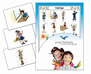 Yo-Yee Flashcards - Feelings - Schede illustrate per favorire l'apprendimento linguistico - Per le lezioni di inglese negli nelle scuole