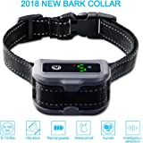 Siweite Rechargeable Dog Bark Collar Automatic Anti-Barking Collar Beep Vibrate Shock Mode Adjustable Dogs Collars for Small Medium Large Dogs Waterproof Bark Control Device