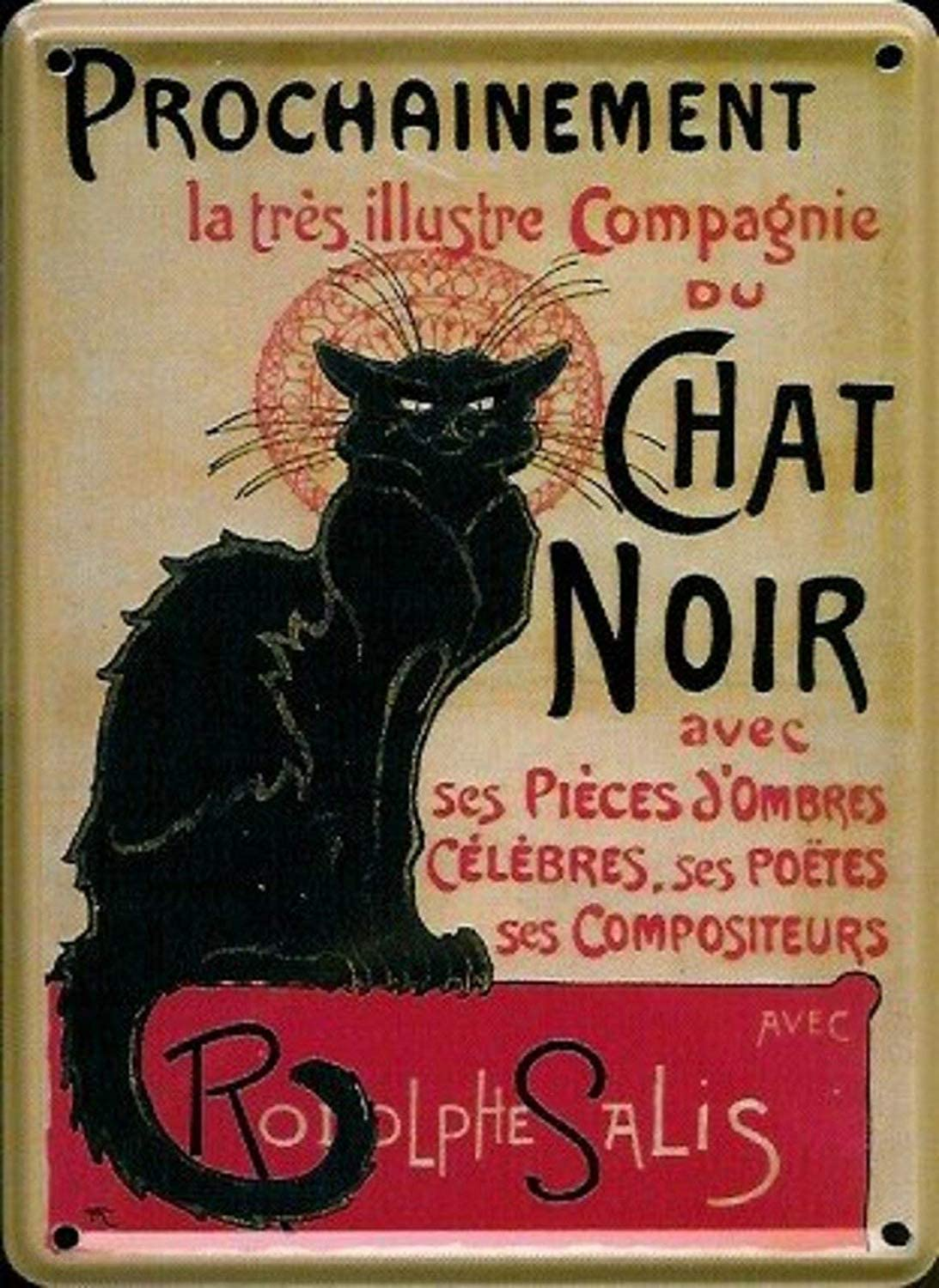 KELLEN WHITEHEAD with Parisian Cabaret Chat Noir Cat Design ...