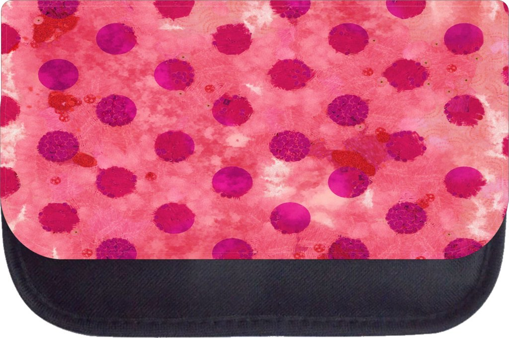 TM Medium Sized Messenger Bag 11.75 x 15.5 and 4.5 x 8.5 Pencil Case SET red grunge dots Rosie Parker Inc