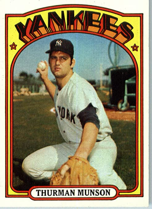 4dfba07311e Image Unavailable. Image not available for. Color  1972 Topps Baseball Card   441 Thurman Munson ENCASED