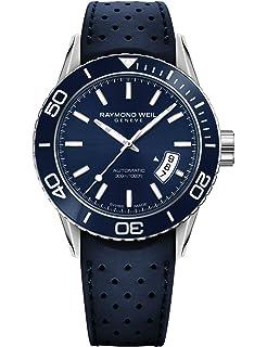 Raymond Weil Mens 2760-SR3-50001 Freelancer Analog Display Swiss Automatic Blue Watch