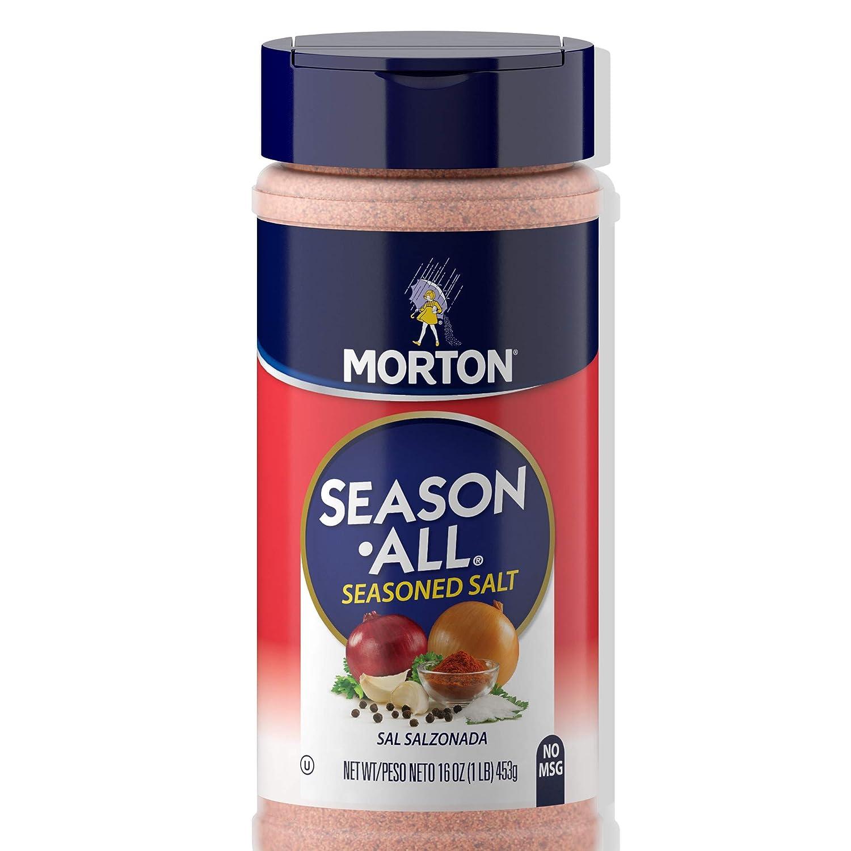 Morton Season-All Seasoned Salt, 16 Oz Canister (Pack of 12)