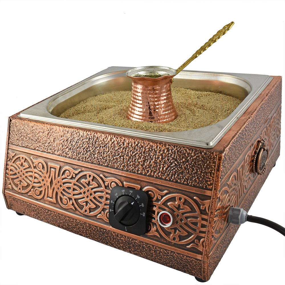 Turkish Sand Coffee, Copper Sand Brewer Machine, Turkish Coffee Machine, Coffee on Sand, Copper Pot, Turkish Coffee Pot, Restaurant Hotel Coffee Shops, Third Wave Coffee