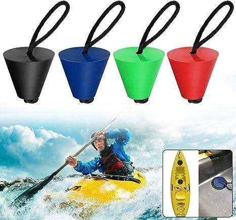 2Pcs Bouchon de Vidange Universel pour Kayak Canoë Bateau Noir