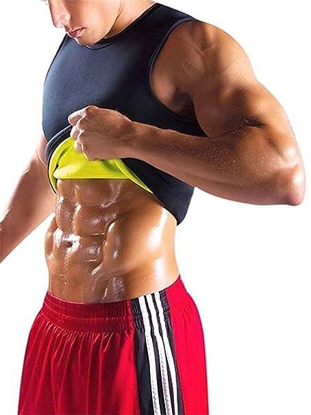 YeeHoo Faja Reductora Chaleco modelador Corporal Hombre Neopreno Camiseta Reductora Compresion de para la Pérdida de Peso,…