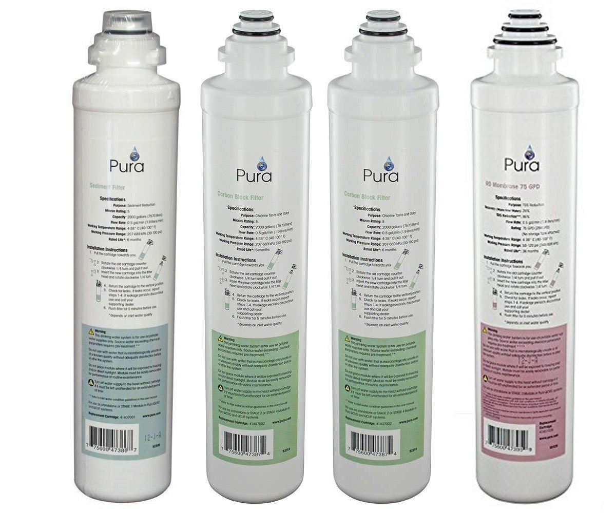 Pura Platinum QCRO Complete Replacement Filter Kit 75 GPD