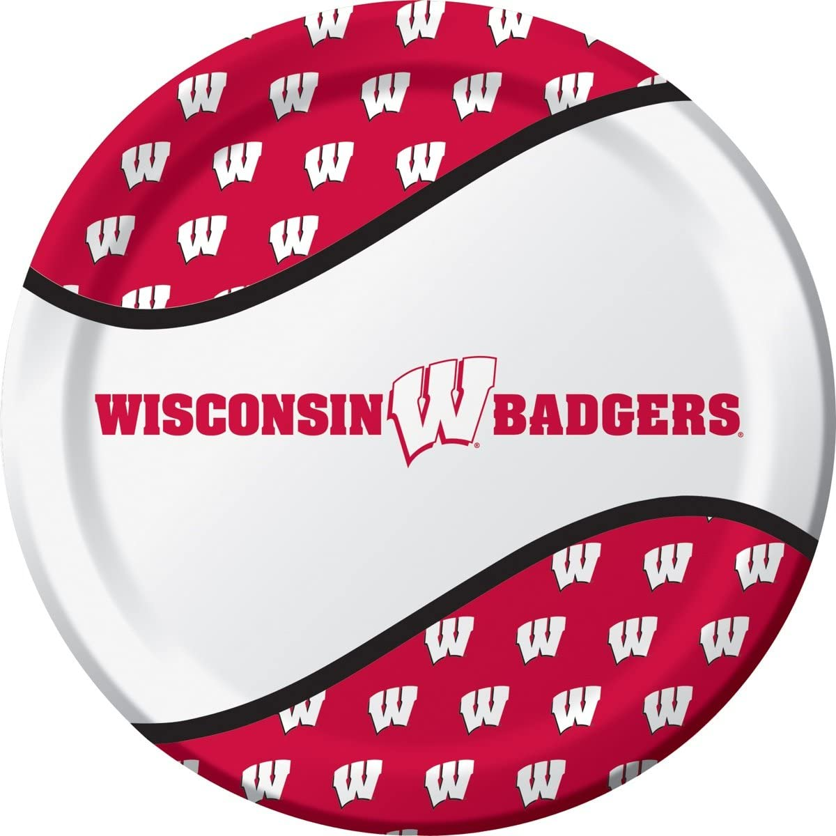 University of Wisconsin Plate and Beverage Bundle 16 Dinner Plates and 20 Beverage Napkins