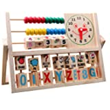 The Best Children Baby Kids Educational Math Toys Learning Developmental Versatile Flap Abacus Wooden Toys