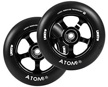 Rueda Completa Patinete Lucky Atom (110mm - Negro): Amazon ...