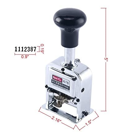 7 Digit Automatic Numbering Machine Self Inking Number
