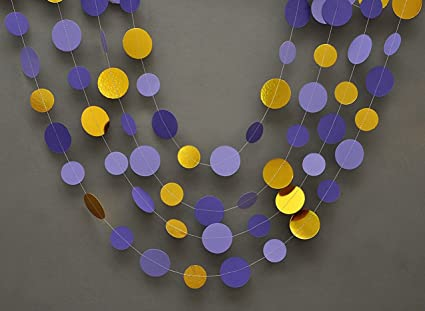Amazon Wedding Decorgold And Purple Garland Gold Purple