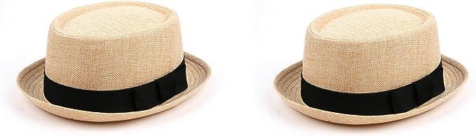 Pop Fashionwear Fashion Porkpie Straw Fedora Hat 508HF