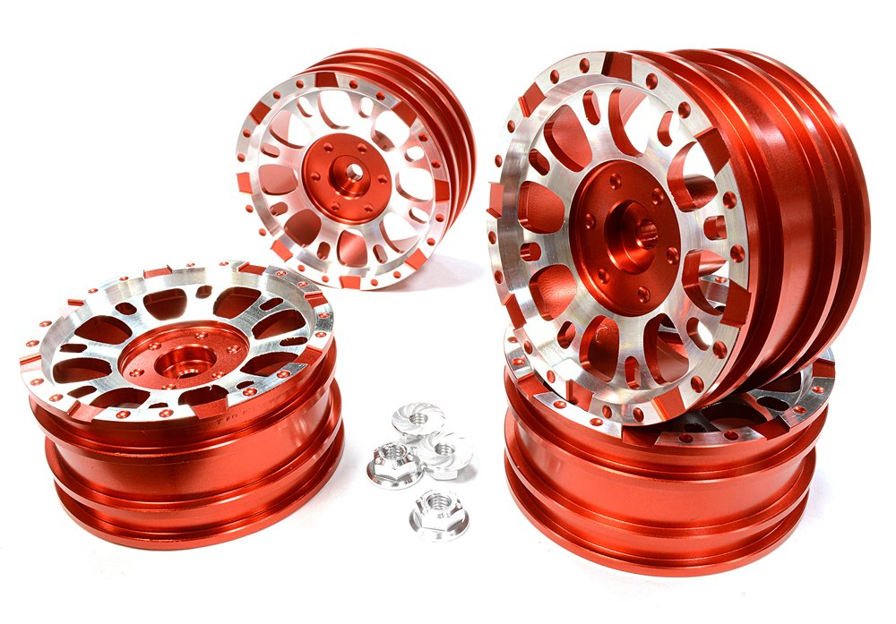 Integy RC Model Hop-ups C25339ROT Realistic 1.9 1.9 1.9 Größe X8U Alloy Wheel (4)+M4 Nut for Scale Off-Road Crawler 5db7be