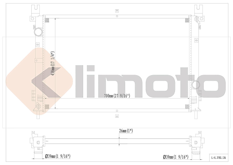 Klimoto Brand New Radiator fits Chrysler Pacifica 2004 2005 2006 3.5L 3.8L V6 CH3010299 CH3010322 5102435AA 5159084AA Q2702 CU2702 RAD2702 DPI2702